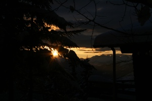 Sunset view shot from Keitsha's home in the French Alps. Photo credit: Keitsha Klash